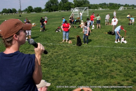 The doggie obedience class at Doggie Palooza on Saturday