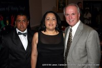 Pastor Tommy Vallejos and his wife Caroline with Clarksville Mayor Johnny Piper