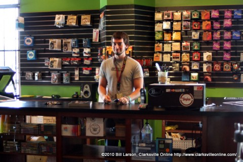 Lloyd is waiting to serve you at Mary's Music Store