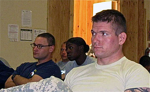 Soldiers from Task Force Iron, 3rd Battalion, 187th Infantry Regiment listen to a recent suicide prevention class as part of a two-day Applied Suicide Intervention Skills Training course.  The Iron Rakkasans have not had a single suicide in their task force this year, and they are hoping the training will help them continue that trend.