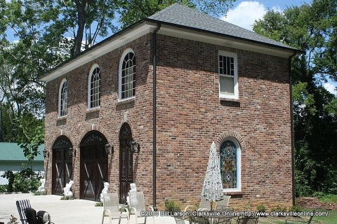 The new carriage house at the Johnson-Hach House