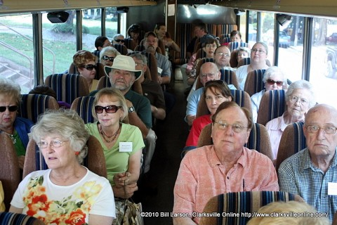 The bus was packed for Day 2 of the Architectural Heritage Bus Tour