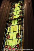 A beautiful stained glass window is one of the best features of the house
