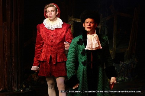 The Princes (John Moser, left) and (Josh Bernaksi, right)