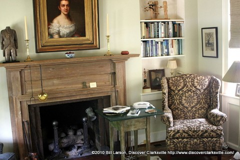 A tastefully decorated sitting room in the Watts House