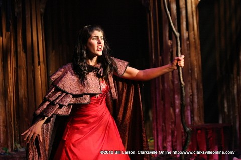 Rachael Fogle as the Witch