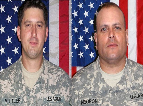 Sergeant Shaun M. Mittler (right) and Specialist Carlos J. Negron (left).
