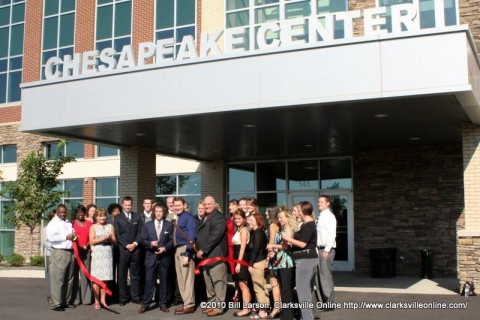 The official groundbreaking of the Chesapeake Center
