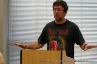 Tom Franklin giving his presentation at the 2010 Clarksville Writer's Conference