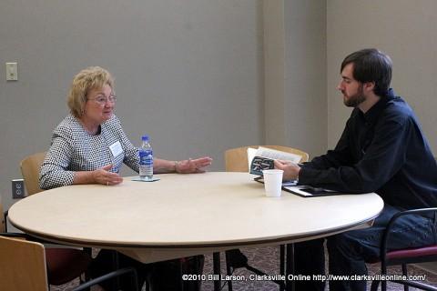 Gordon Warnock meeting with Sue Culverhouse