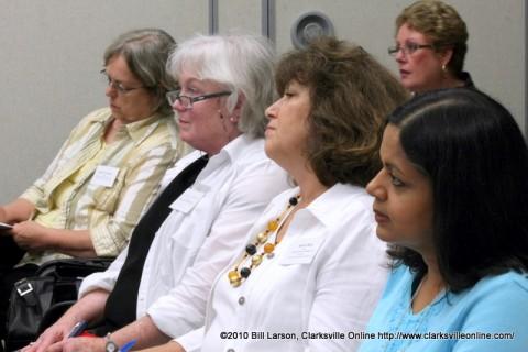 Audience members listening to Chuck Sambuchino