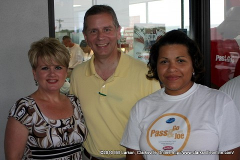 State Representative Joe Pitts (center) with his wife Cindy (left), and Education Foundation Director and Community Relations Coordinator Candy Johnson (right)