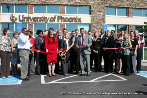 The ribbon cutting officially opens the newest campus of the University of Phoenix