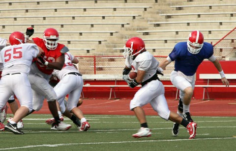 APSU Football First Scrimmage - ( Courtesy: Austin Peay Sports Information )