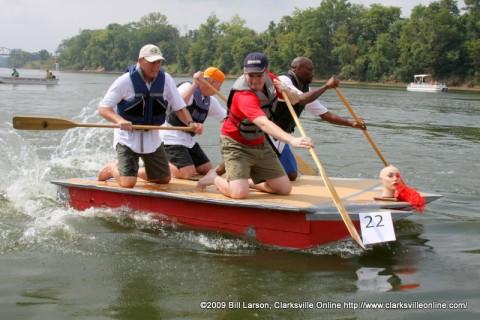 City Council Boat from last years Riverfest Regatta Race.