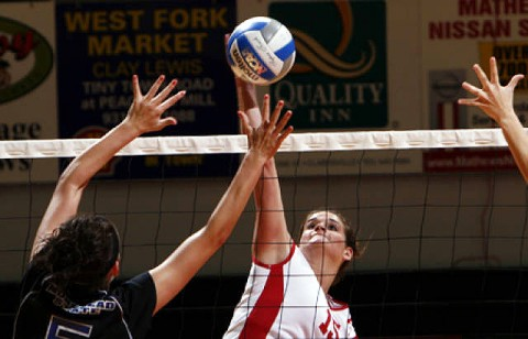 Senior middle blocker Taylor Skinner was one of two Lady Govs selected=