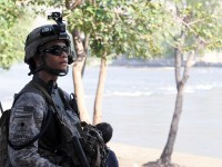 U.S. Army Spc. Edwin A. Santos of Flowery Branch, GA, a team leader with 4th Platoon, Company D, 1st Battalion, 327th Infantry Regiment, Task Force Bulldog. (Photo by U.S. Army Staff Sgt. Gary A. Witte, 300th Mobile Public Affairs Detachment)