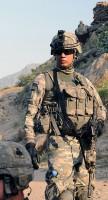 U.S. Army Pvt. David M. Hernandez of Phoenix, Ariz., a rifleman with 4th Platoon, Company D, 1st Battalion, 327th Infantry Regiment, Task Force Bulldog. (Photo by U.S. Army Staff Sgt. Gary A. Witte, 300th Mobile Public Affairs Detachment)