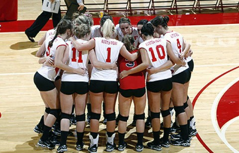 Austin Peay's volleyball team saw its recorded leveled at 1-1 with a loss to host Mississippi State, Friday night. - ( Courtesy: Lois Jones/Austin Peay )
