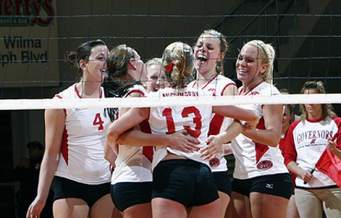 Lady Govs Volleyball - (Courtesy: Lois Jones/Austin Peay)