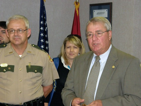 Commissioner Dave Mitchell and Tracy Trott.