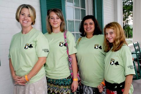 Nicole Haynes and her daughter Brittany Haynes, Angela Kellogg,1 BCT Field Artillery FRG Advisor, and her daughter Danielle Kellogg