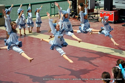 Dancers performing songs from the musical Annie at the 2010 Riverfest Celebration.