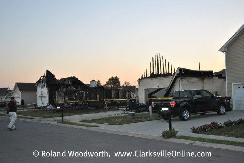The three destroyed homes on Nadia Drive in Clarksville, TN