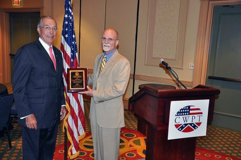 (From L-R):  Civil War Preservation Trust Chairman John L. Nau, III, recently honored Tennessee Wars Commission Director Fred Prouty with a Chairman's Award of Excellence in Historic Preservation for his work to help restore and preserve Tennessee's battlefields.