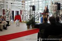 Hemlock President and CEO Rick Doornbos addresses the crowd