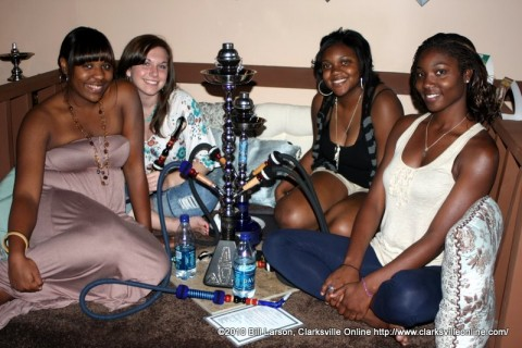 Morgan (second from left) along with her friends Nadia, Shay, & Demetria