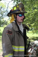 Cunningham Firefighter Jeff Wright was the first firefighter on scene