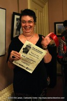 Peggy Scoville Bonnington with her second place award in the Amateur Division