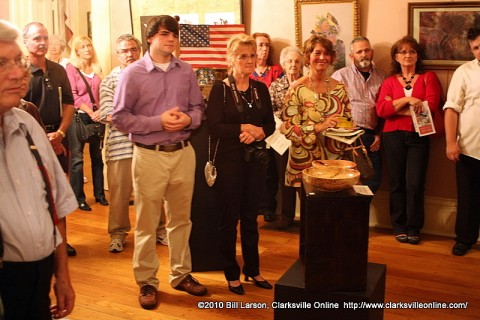 Artists and Tour D' Art Guests  attending the awards presentation at the Smith Trahern Mansion.