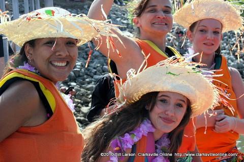 Hui Hawai`i O Tenesi Hawaiian Civic Club's Boat Crew;  Brittani Shaw, Kaitlyn Fitzke, Kayli Telfer, Cheyenne Brooks and Michelle Adair