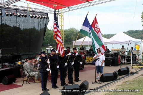 The 9/11 Rememberence Ceremony at Clarksville's 2010 Riverfest Celebration.