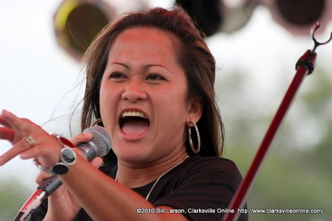 Maya Gregory, One of the many talented Operation Rising Star performers at the 2010 Riverfest Celebration.