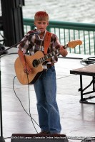 A young man performing at Gateway to Stardom