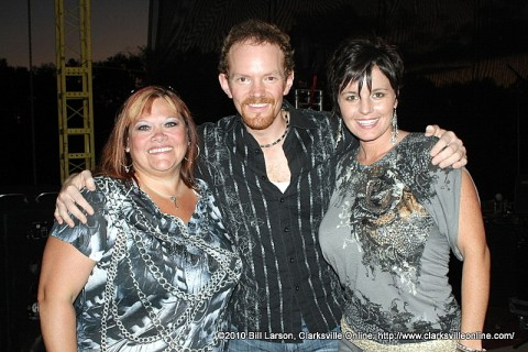 Country Idol Winner Steven Whitson with the other two finalists.