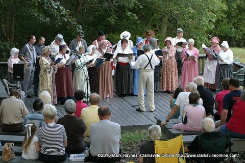 The Civil War Singers performing Stephen Foster songs at Fort Donelson on August 28th 2010