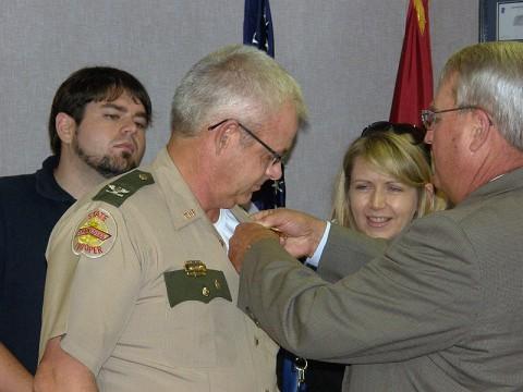 Tracy Trott's rank advancement ceremony.