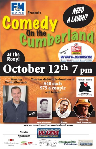 The October 12th Comedy on the Cumberland Poster