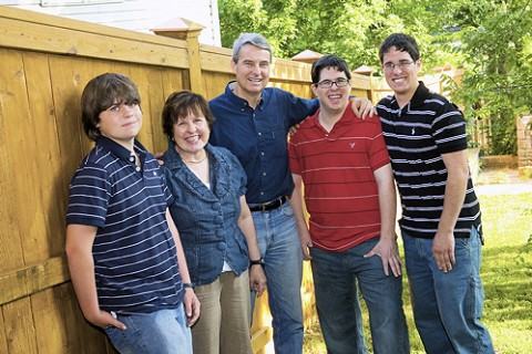 Roy Herron, his wife Nancy and their three sons.