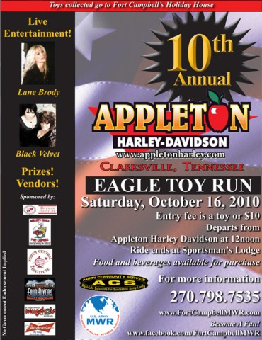 The 10th Annual Appleton Harley-Davidson Eagle Toy Run
