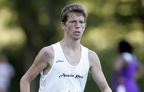 Freshman Tyler Kepley has provided a consistent effort as the Govs No. 4 in the season's first two eight-kilometer races. (Courtesy: Keith Dorris/Dorris Photography)