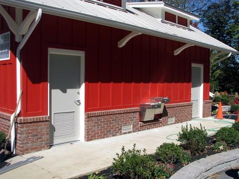 Clarksville Greenway bath house.
