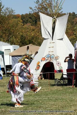 A Grass Dancer at the 2010 NCC Powwow
