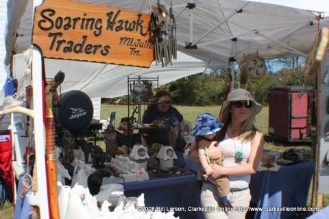 A vendor at the Powwow