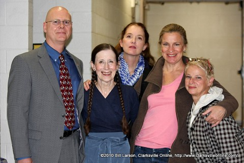 Christopher Burawa, Center of Excellence for the Creative Arts Director; Meredith Monk; Allison Sniffin; Katie Geissinger; & Ellen Fisher