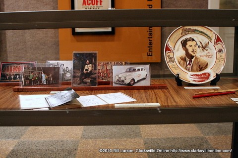 Some of the Roy Acuff items on display at APSU